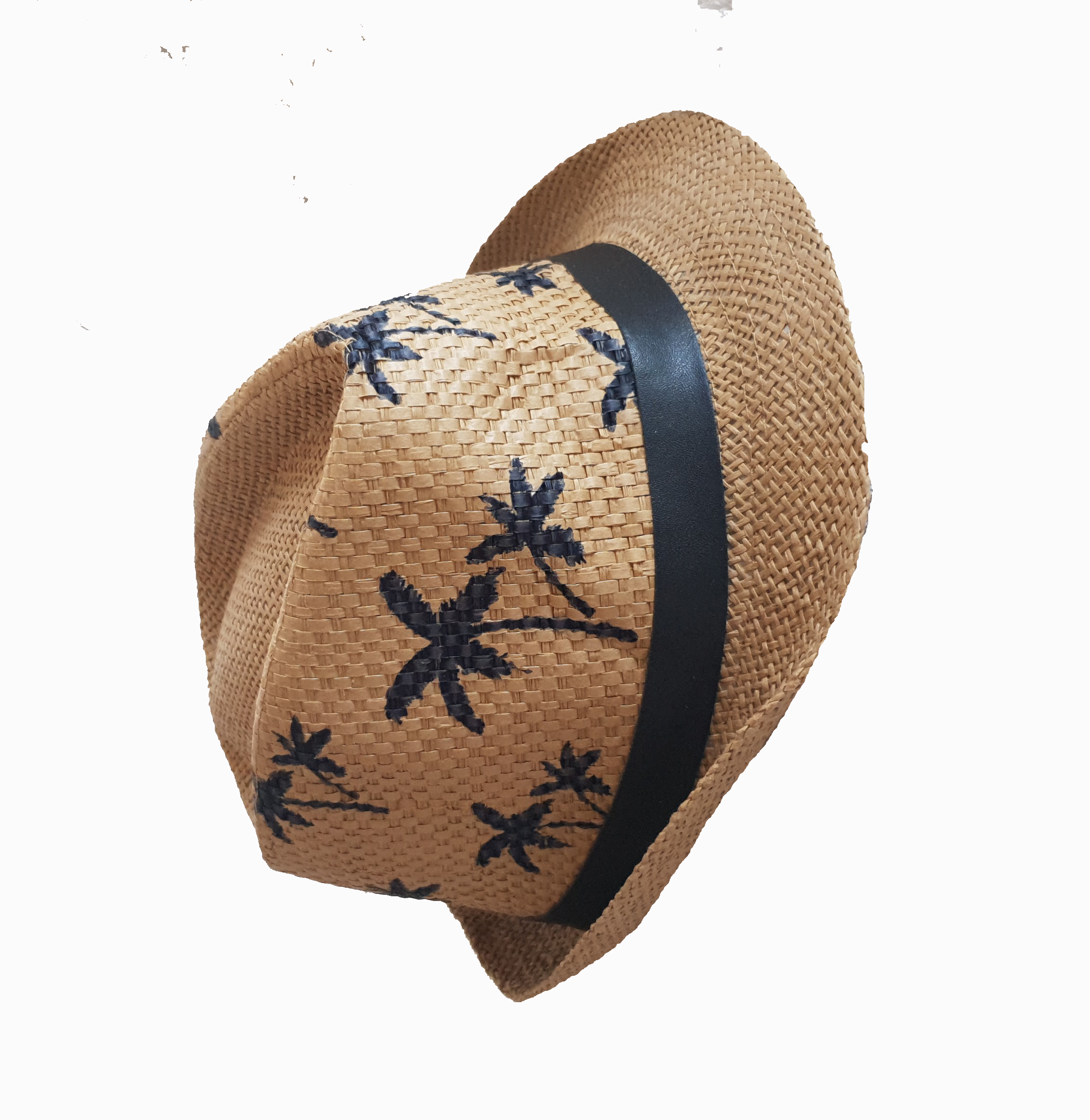 KD2005 - Coffee fedora with palm trees