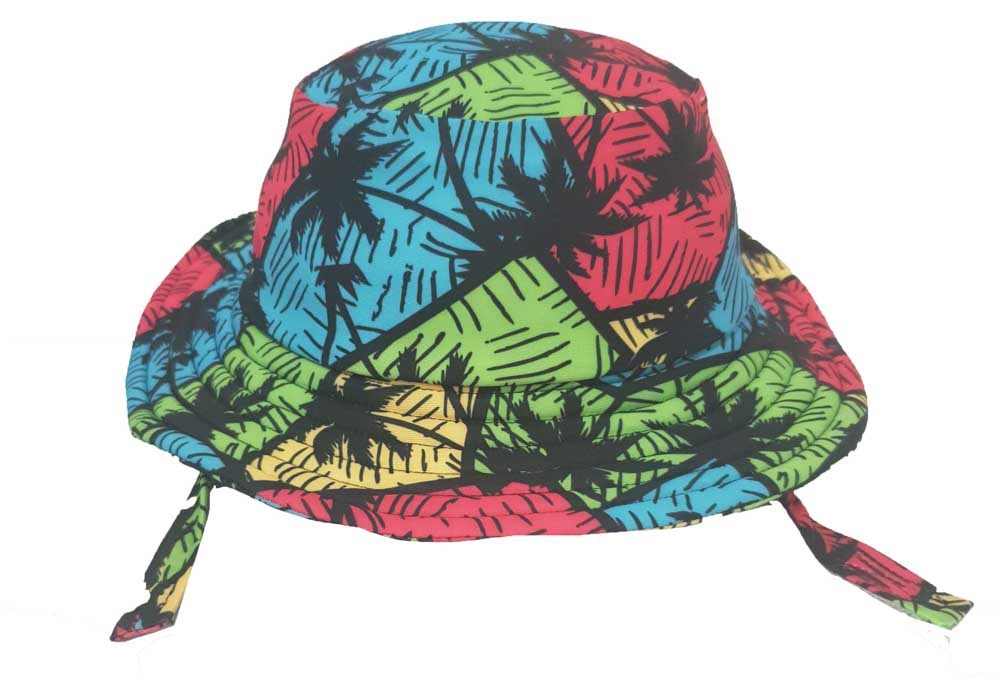 KHB1025-07 PALM TREES (Swim Bucket Hat)