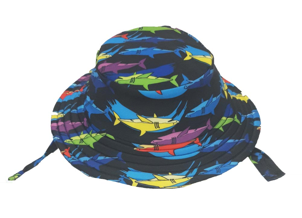 KHB1025-09 MULTI SHARKS (Swim Bucket Hat)
