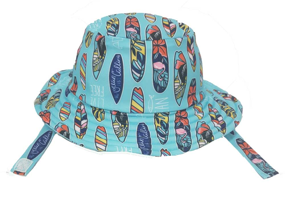 KHB1025-10 ALOHA SURFBOARD (Swim Bucket Hat)
